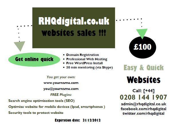 RHQdigital website sales